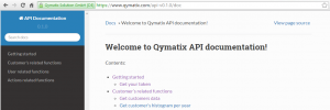 Qymatix API for ERP Cloud Data