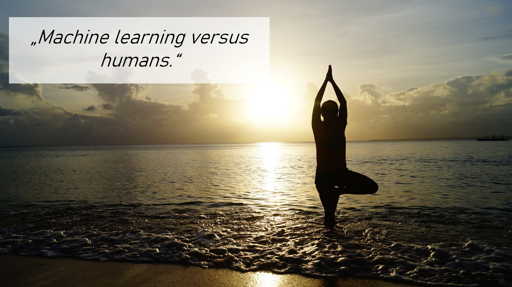 AI machine learning versus humans